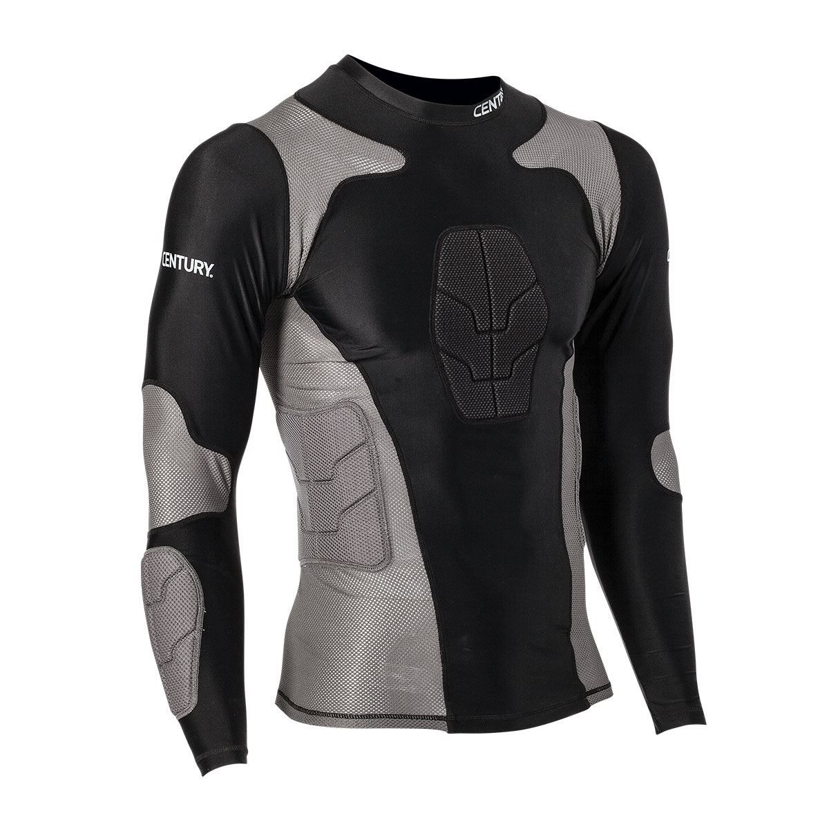 Long sleeve padded compression shirt padded compression