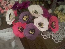 Kwiaty Z Krepiny Moje Hobby Paper Flowers Flowers Paper