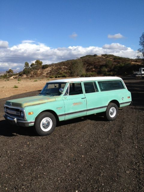 C20 1969 Suburban Big Block California Original Patina Rat Rod Hot