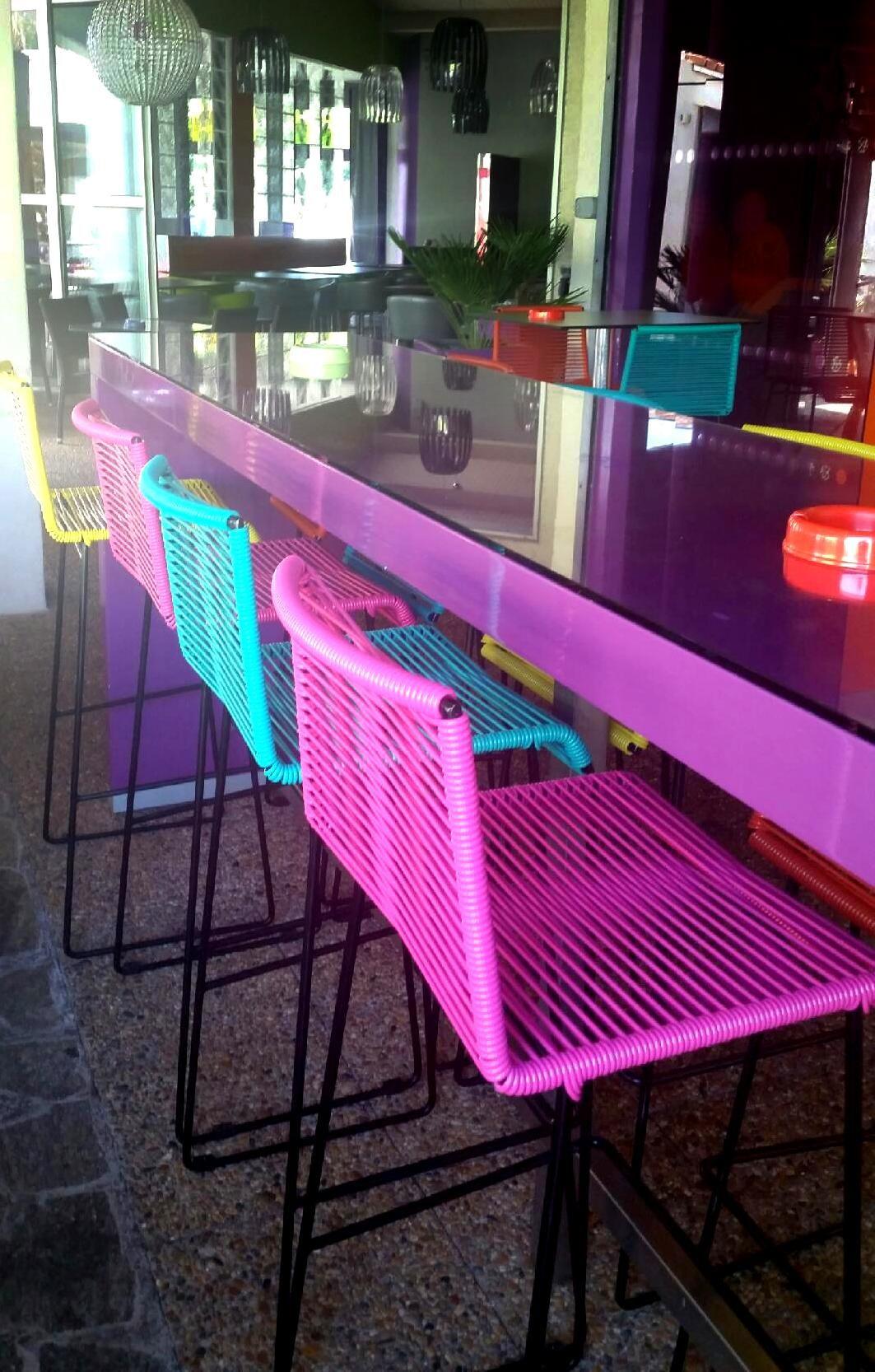 Boqa Fr chaises de bar gran cenote, de chez boqa pour le restaurant le