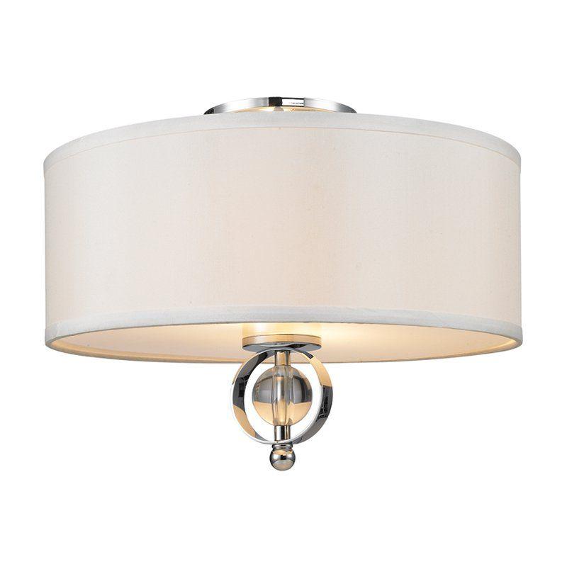 Golden lighting cerchi flush mount light chrome finish from hayneedle com