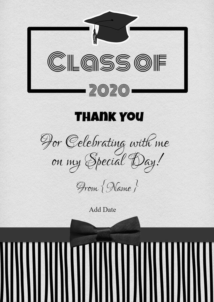 8 free printable graduation thank you cards graduation