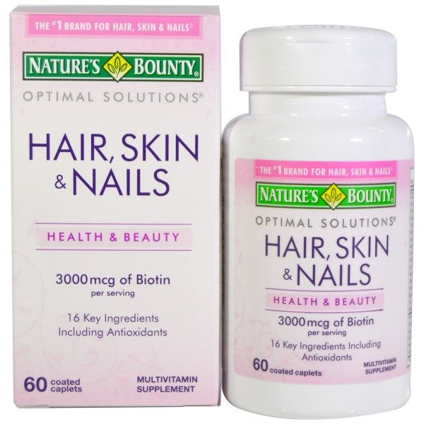 Nature\'s Bounty, Hair, Skin & Nails, 60 Coated Caplets ...