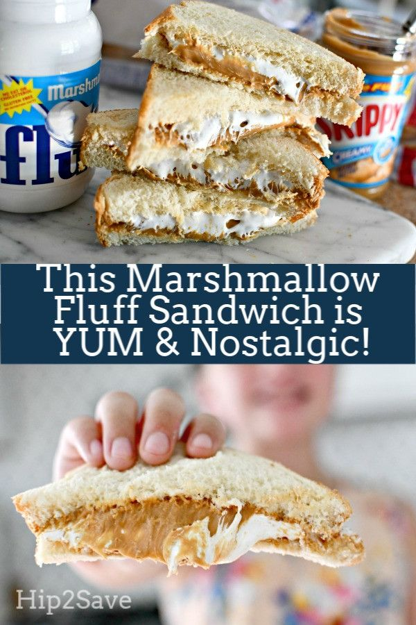 This Marshmallow Fluff Sandwich is YUM and Nostalgic! #marshmallowfluffrecipes