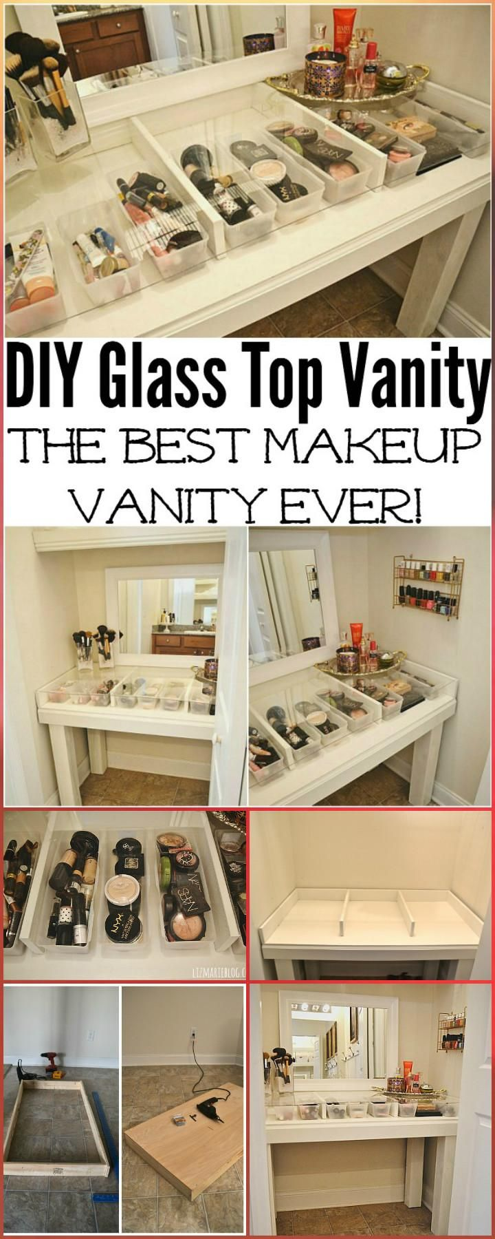 20+ DIY Makeup Vanity Tutorials – Make Your own DIY Vanity images