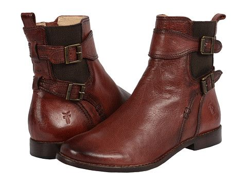 Frye Anna Gore Short Burnt Red Buffalo Leather - Zappos.com Free Shipping  BOTH Ways