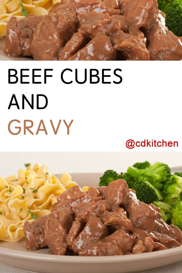 Beef Cubes And Gravy Recipe From Cdkitchen Com Cubed Beef Recipes Hearty Meals Tender Beef