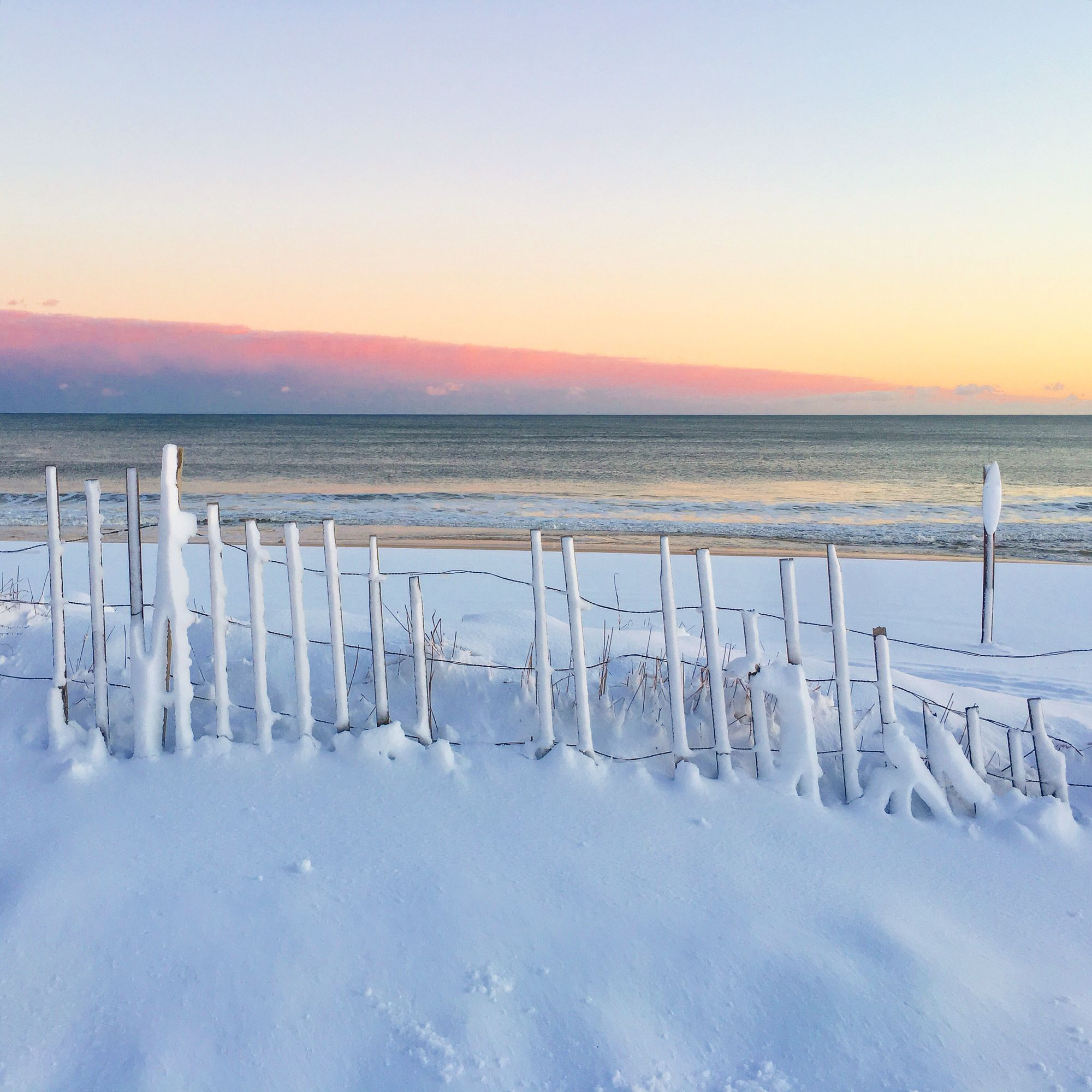 How Can Anyone Complain About A Hamptons Snow Storm Pink