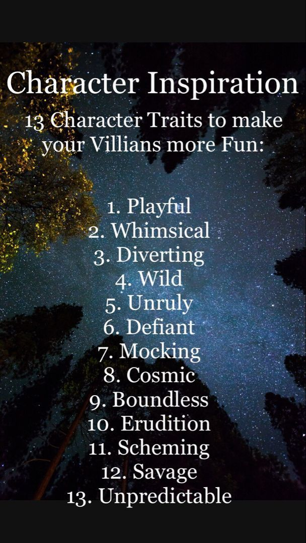 Character Inspiration fun with villians to inspire more creative writing. #writi…