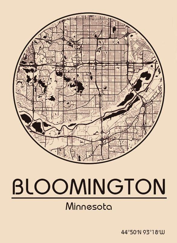 Karte / Map ~ Bloomington, Minnesota - Vereinigte Staaten von Amerika / United States of America / USA
