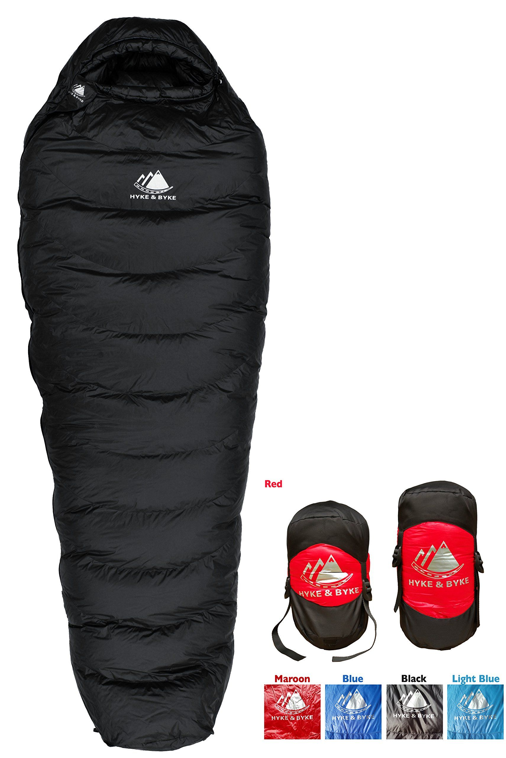 Hyke Byke Snowmass 0 Degree Down Sleeping Bag For Backng Ultralight Mummy