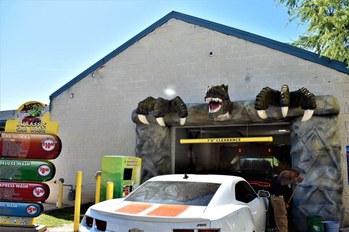 Jurassic Car Wash, Austin Car wash, Car, Day trips