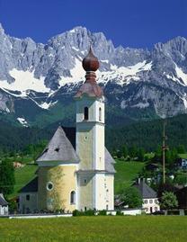 3 Onion Dome Roof Photographic Print Tirol Church