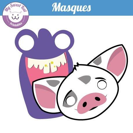 Vaiana Masque A Imprimer Pua Et Tamatoa Masque A Imprimer