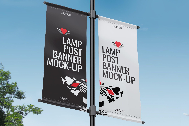 Lamp Post Banner Mock Up By L5design On Envato Elements Banner Pole Banners Mockup
