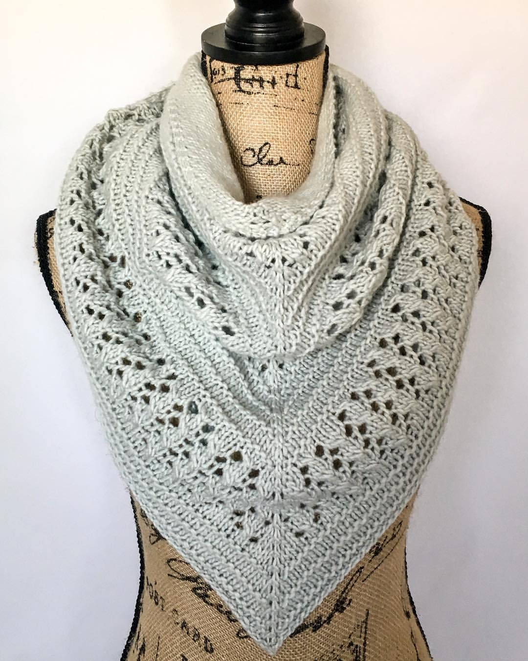 A modified version of my Pumpkin Spice shawl pattern (original ...