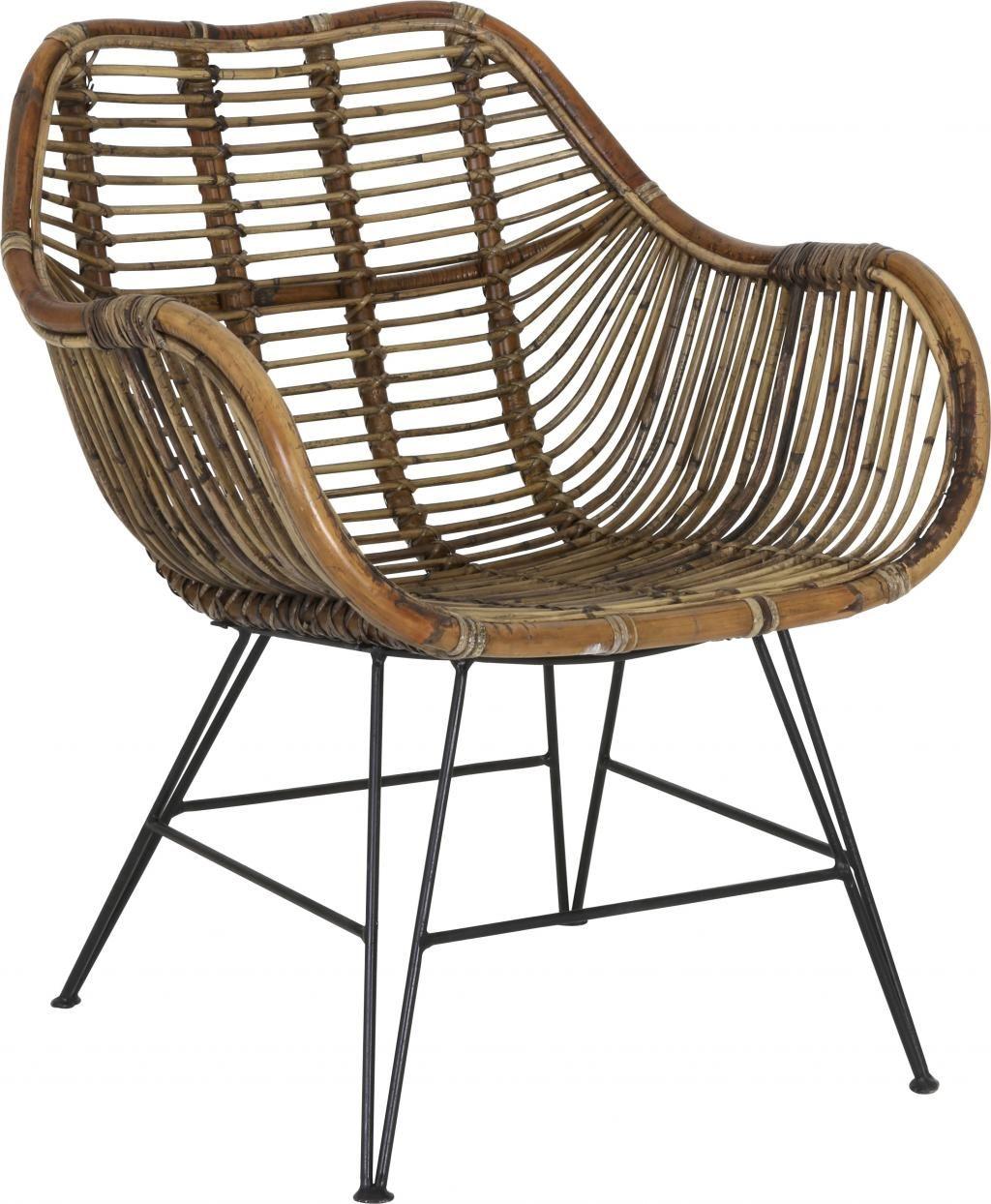 Stoel malang rotan bruin light living rotan for Rotan eettafel stoel