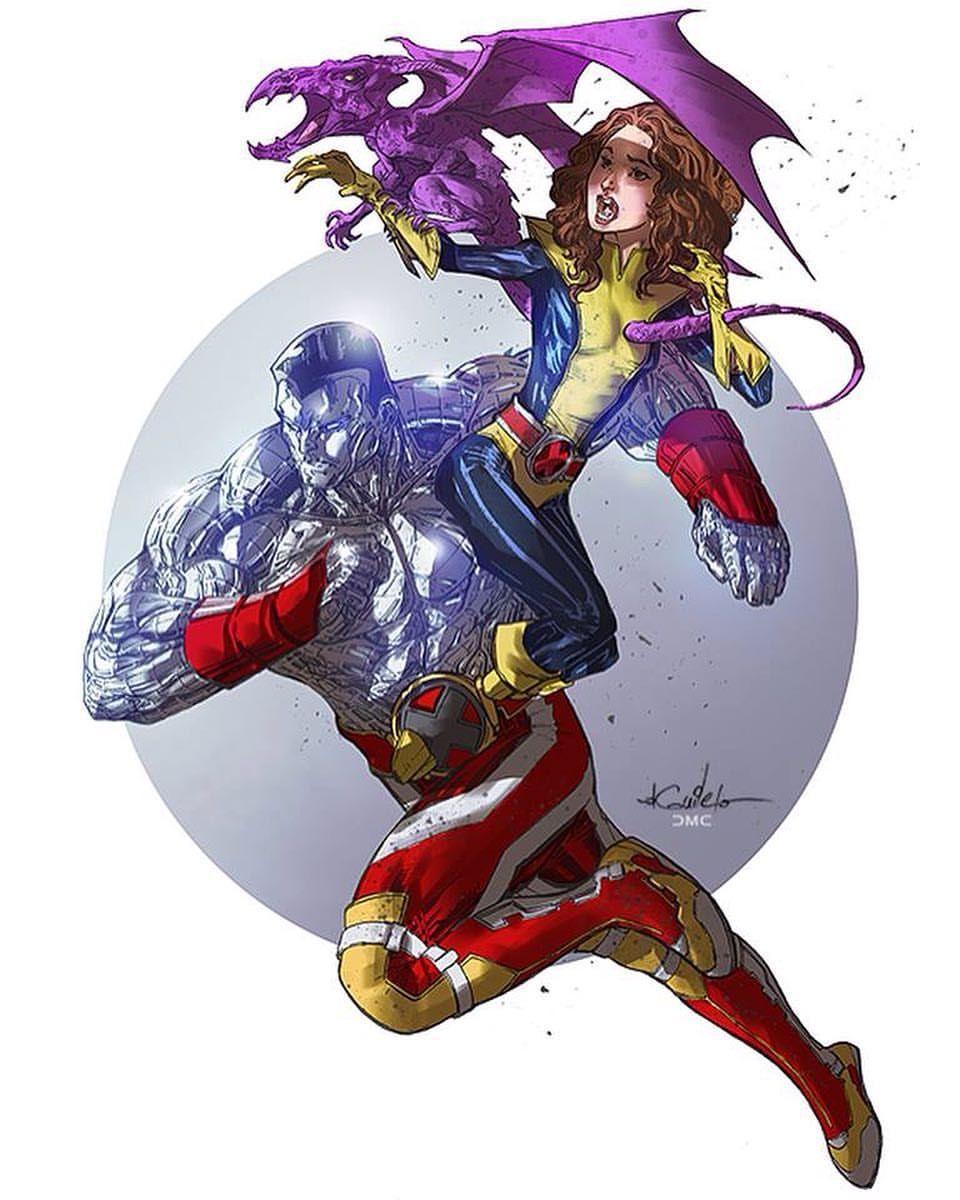 Colossus and Shadowcat | Superhero art, Colossus |Shadowcat And Colossus Child