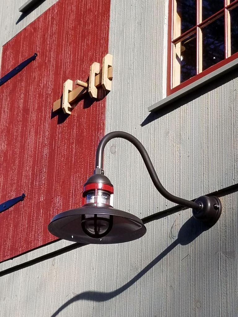 Rustic Wall Lighting Lends Vintage Look To New Barn Rustic Wall Lighting Gooseneck Lighting Light