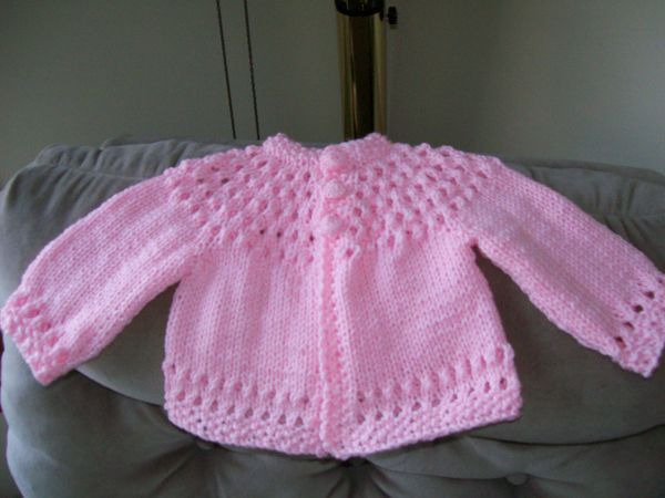Knitting Sweaters From The Top Down : Baby sweater patterns knit from the neck down