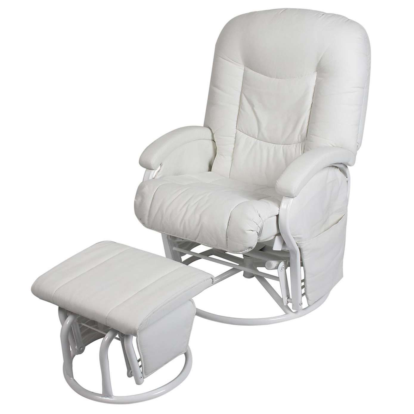 Terrific Cloud Nine Deluxe Marshmallow Glider Chair And Stool Ncnpc Chair Design For Home Ncnpcorg