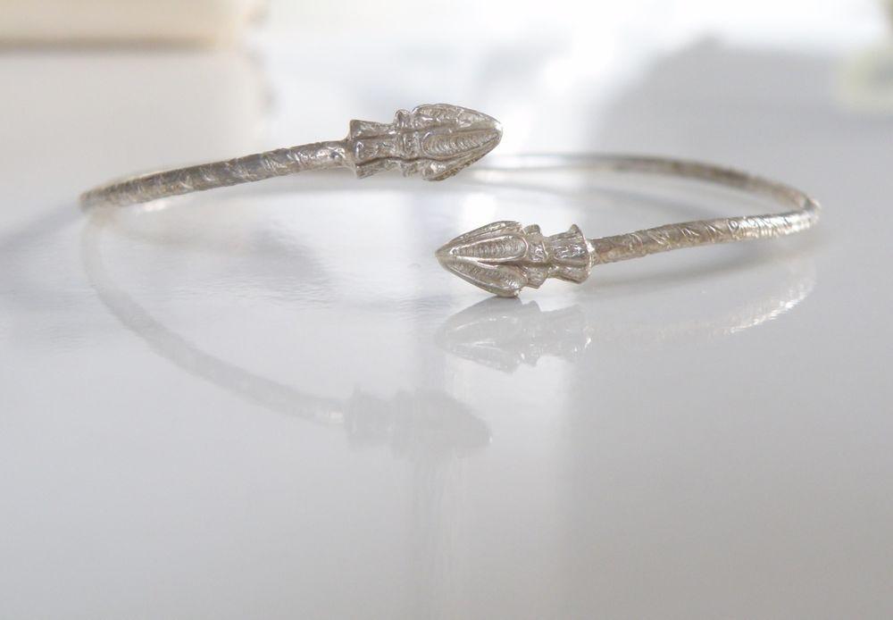 232a593a445f4 Vintage Bermuda STERLING Silver 925 Seashell Cuff Bangle Stack Bracelet   Handmade  Bangle