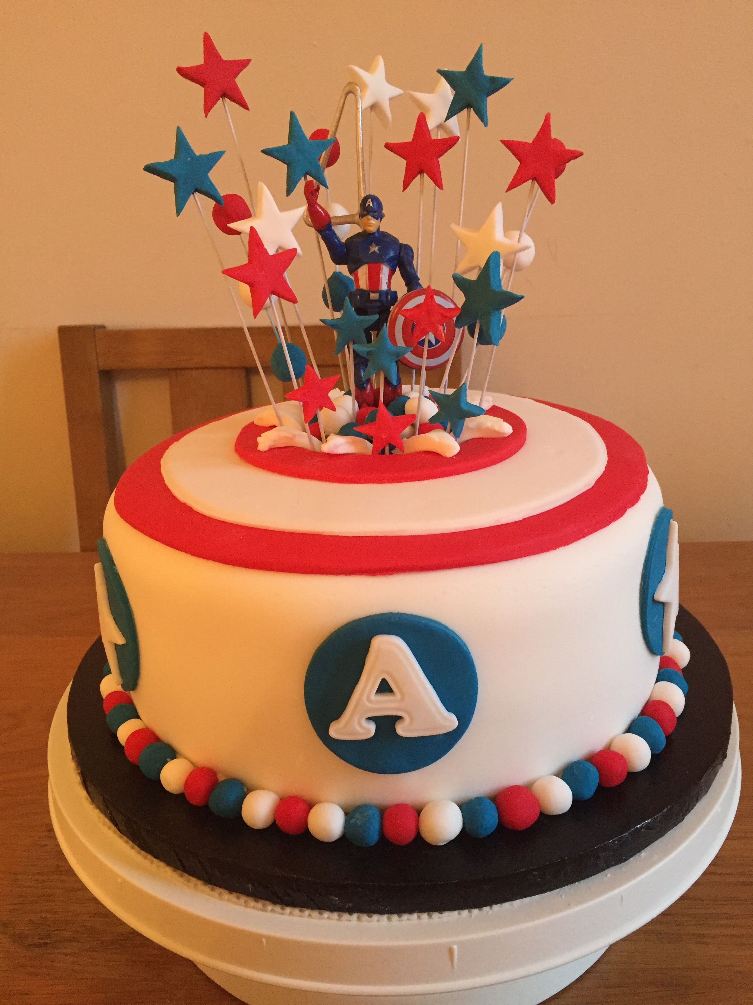 Captain America Birthday Cake Pinterest Captain
