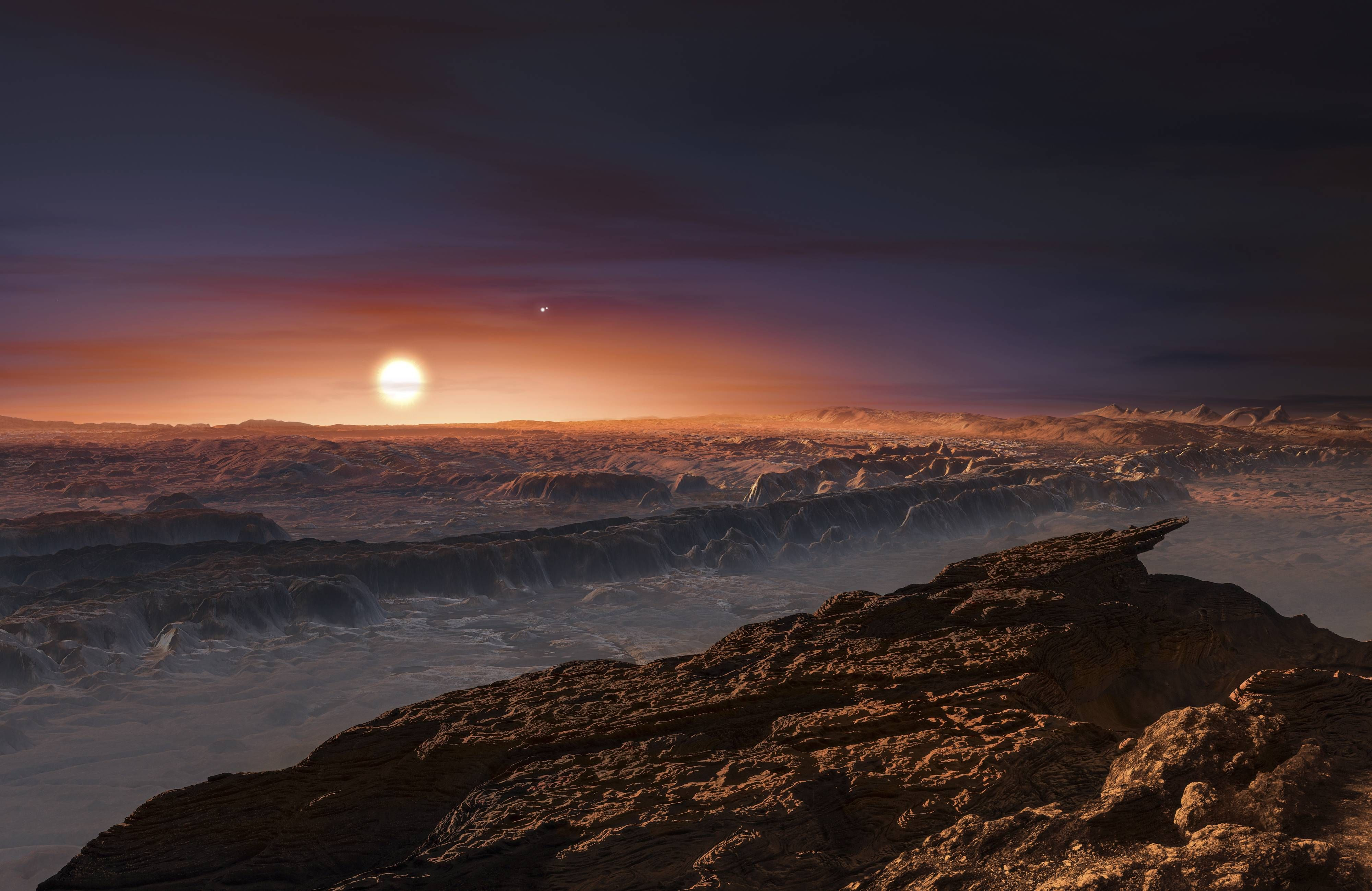 Artist rendering of the surface of the Proxima b