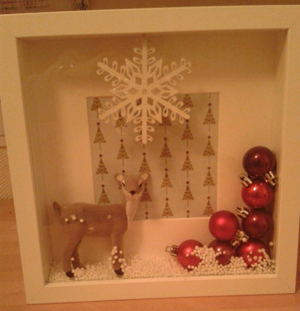 Pin By Loobydo Workshops On Loobydo Workshop Makes Box Frames Christmas Pictures Christmas Decorations