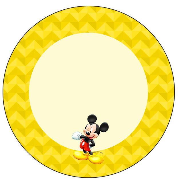 Rótulo Tubetes, Toppers e Latinhas Mickey: