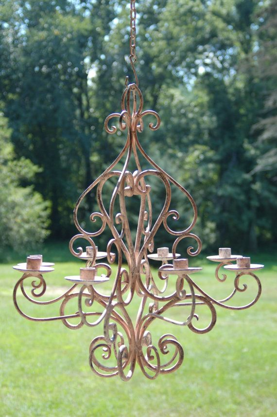 Wrought Iron Candle Chandelier Gorgeous And Fabulous For A