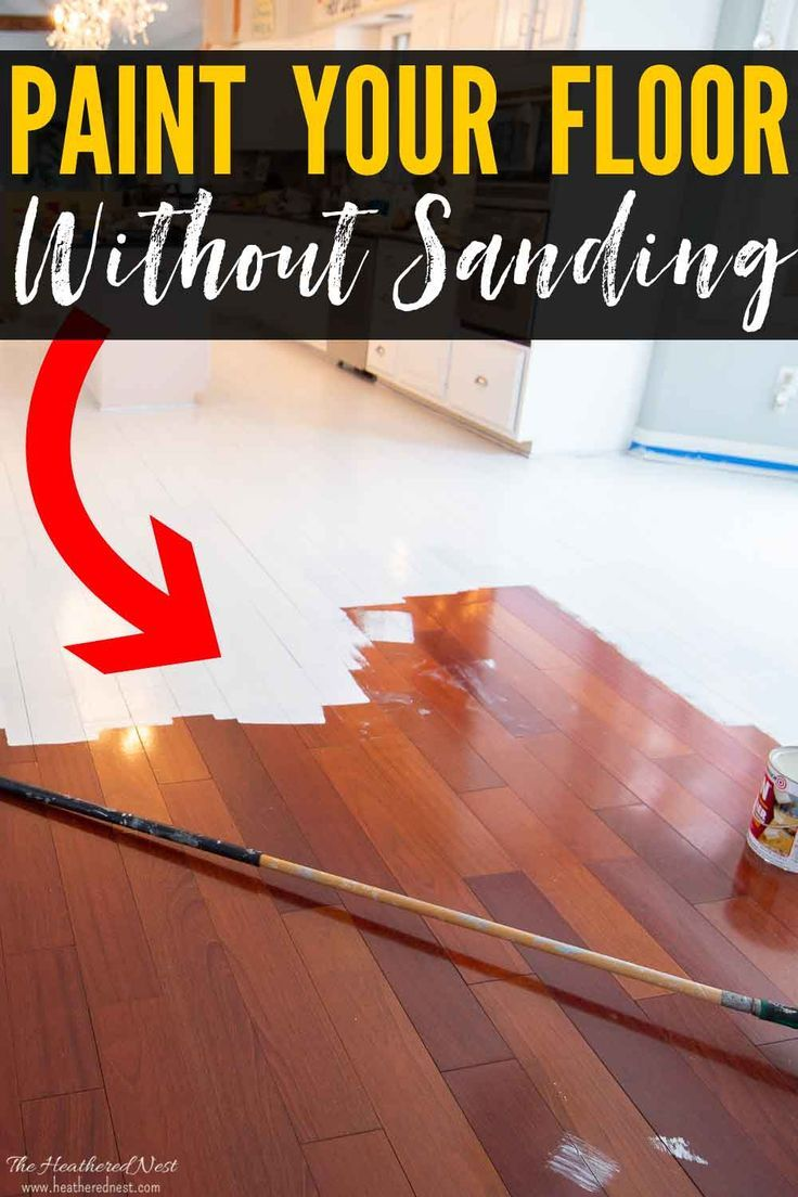 How To Paint Wood Floors Without Sanding With Images