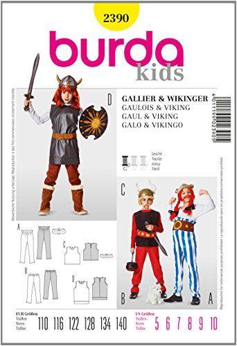 Asterix & Obelix Kostüm selber machen Schnittmuster ca 12€ | Kostüm ...