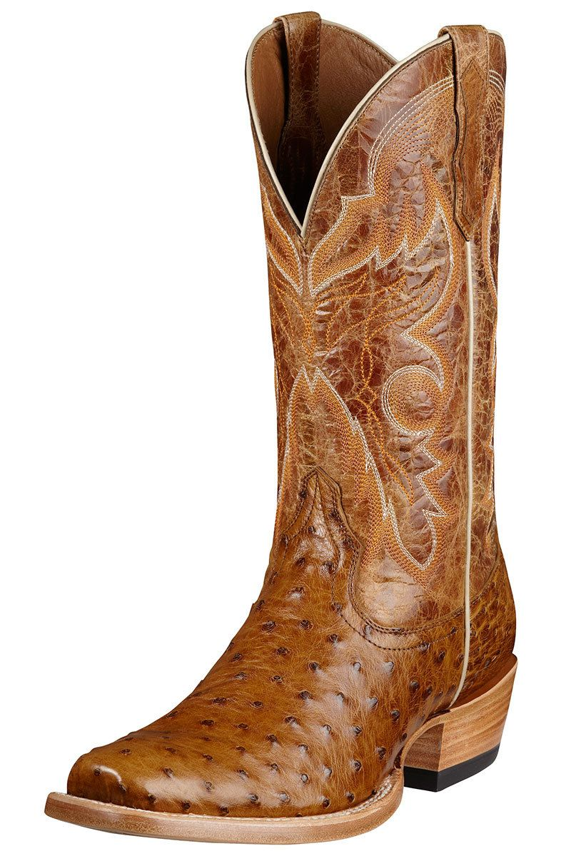 Corral Men's Smooth Ostrich SQ Toe Western Boot