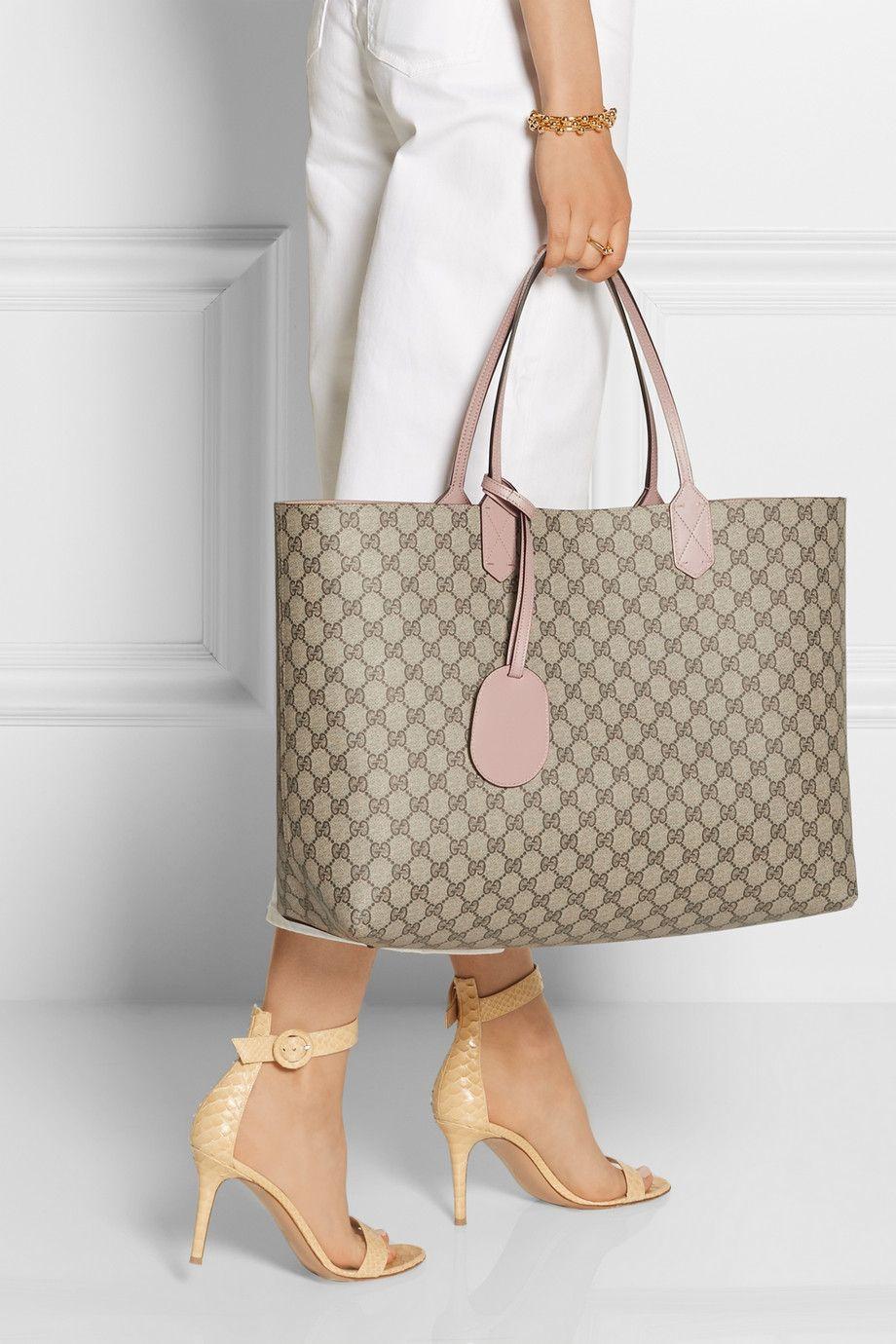 Gucci sac à main réversible en cuir collé turnaround large neta