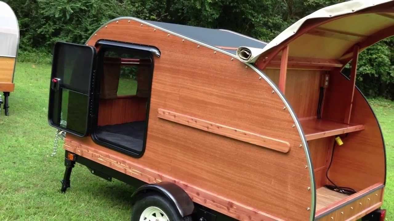 Hillcrest 4x8 Mahogany Cedar Convertible Teardrop Camper Diy Travel Trailer Teardrop Camper Teardrop Camper Plans