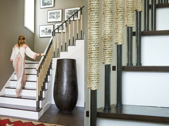 Best Rope Wrapped Railings Floor Vase Modern Interior Design 400 x 300