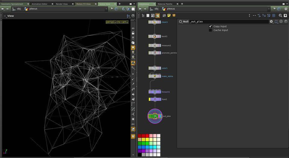 Plexus Effect In Houdinicomputer Graphics  Digital Art Community