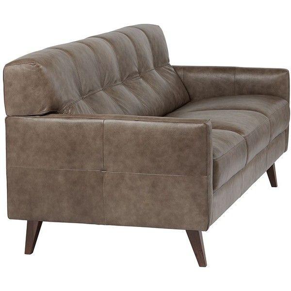 Digio 85 Wide Fiji Taupe Italian Leather Sofa 1000 Liked On