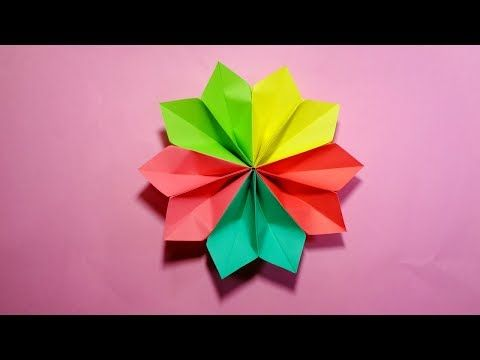 how to make an easy origami flower for beginners - YouTube | Easy ... | 360x480