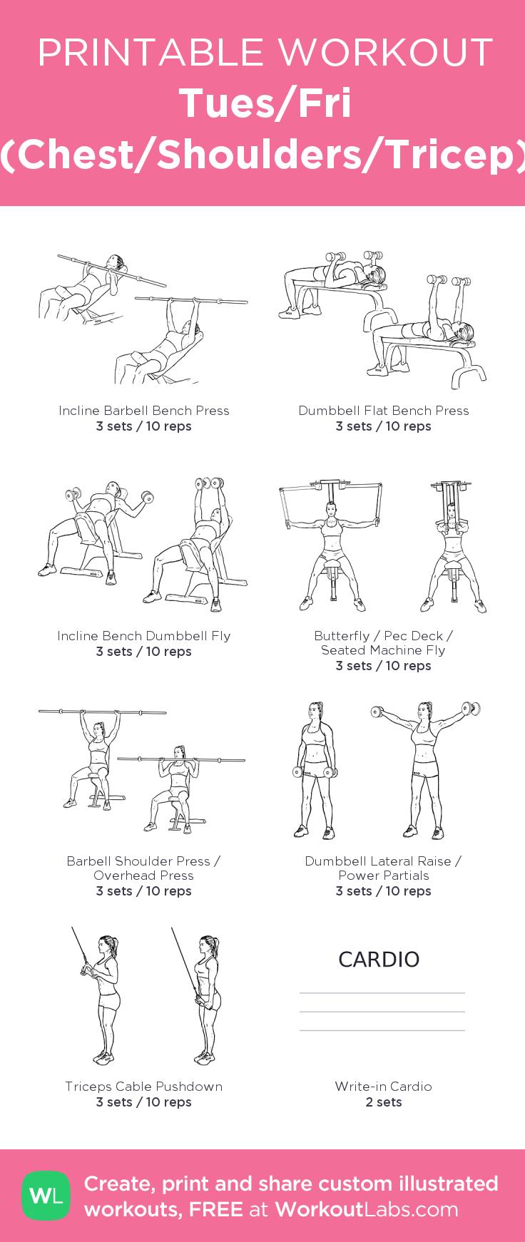 Tues/Fri (Chest/Shoulders/Tricep) | Fitness | Pinterest | Shoulder ...