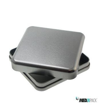 Caixa metálica quadrada totalemente personalizável.