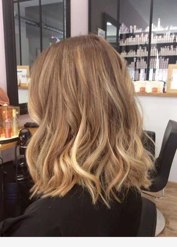 Cut and dark blonde color #darkblondehair