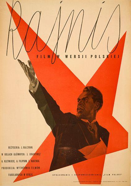 Wojciech Zamecznik Rajnis 1950 Polski Plakat Plakat