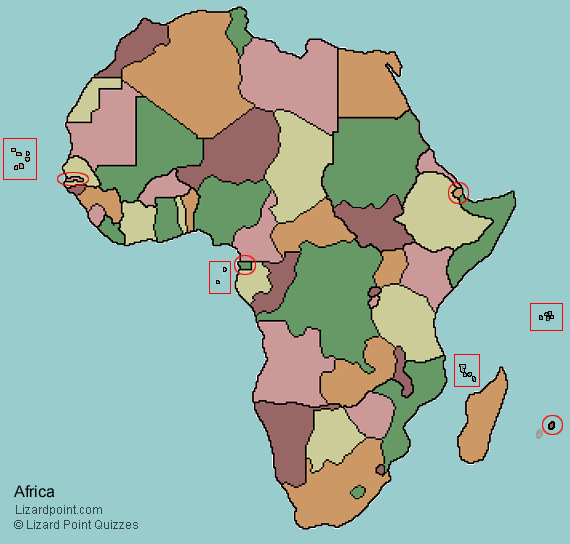 Clickable Map Quiz Of Africa Countries Multicultural Studies - Holy see map quiz
