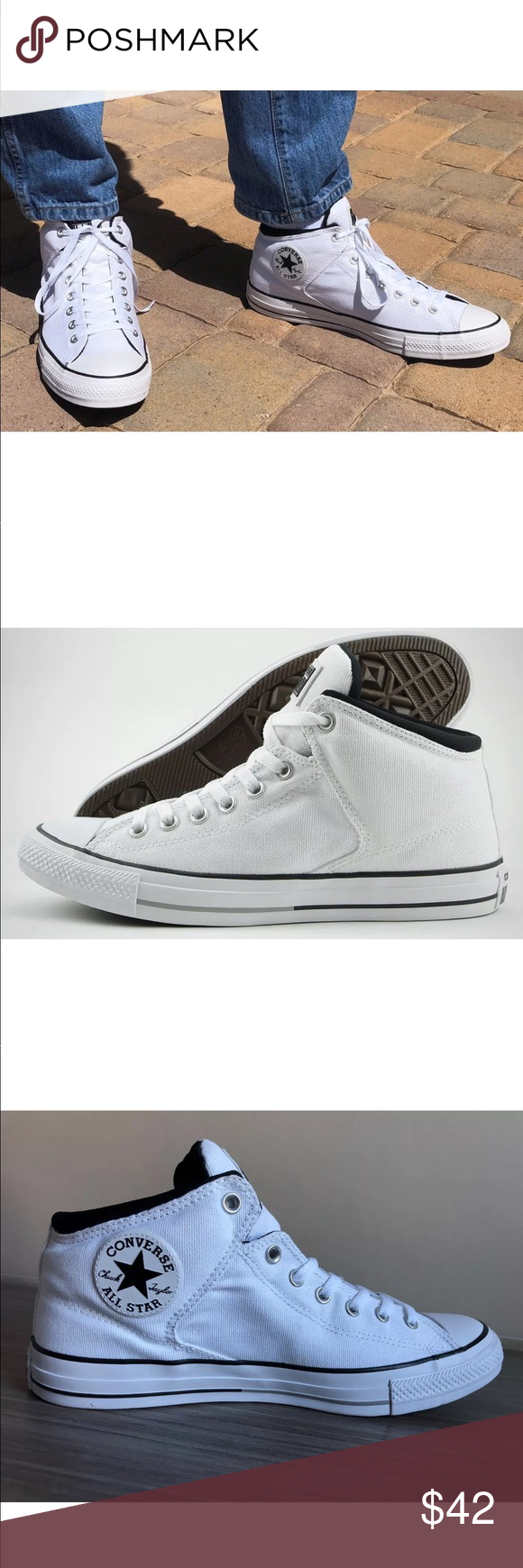 27cc9dd3058b Men s Converse Chuck Taylor CTAS High Street Shoes NEW AUTHENTIC CONVERSE  CHUCK TAYLOR HIGH STREET MEN S
