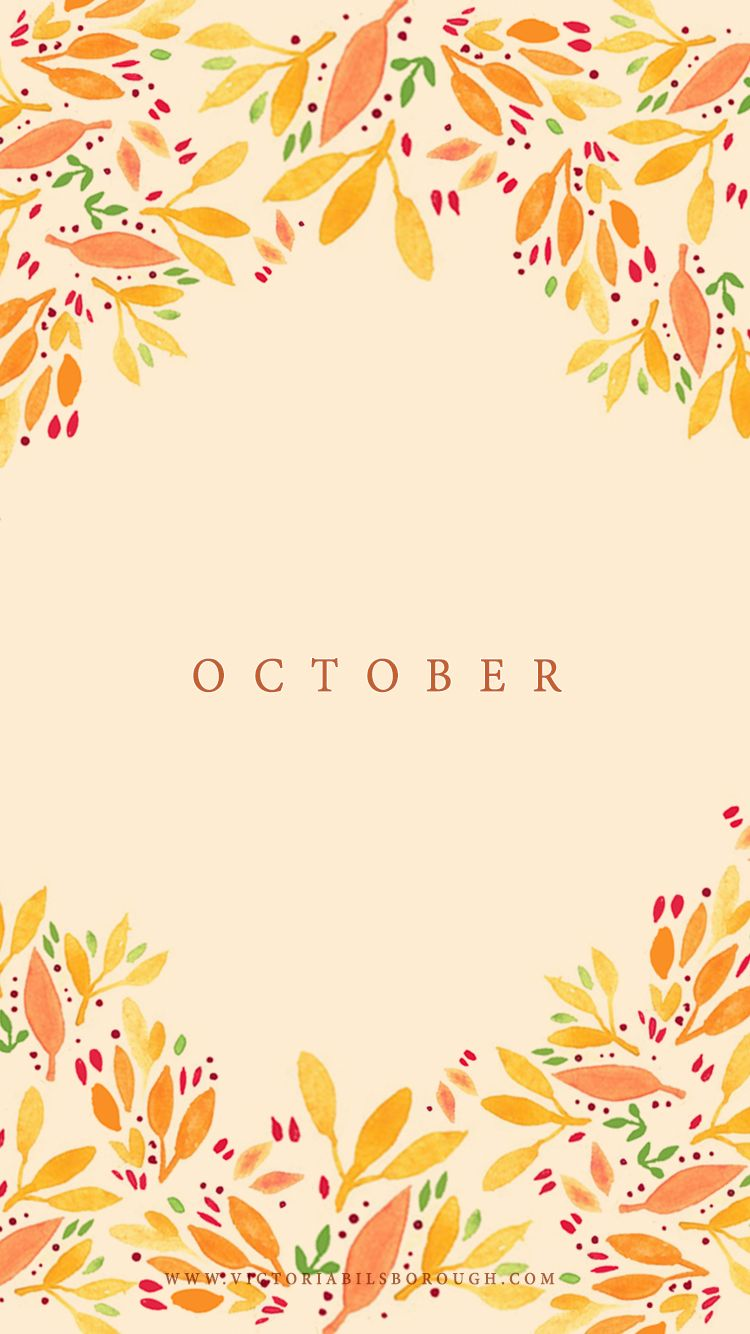 October Wallpaper (With images) Iphone wallpaper fall