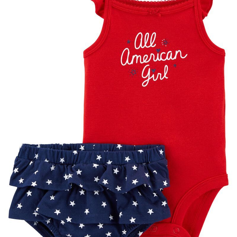 American Babe 4th of July Toddler Baby Girl Boy Sleeveless Tank Top Shorts Cotton Set Clothes