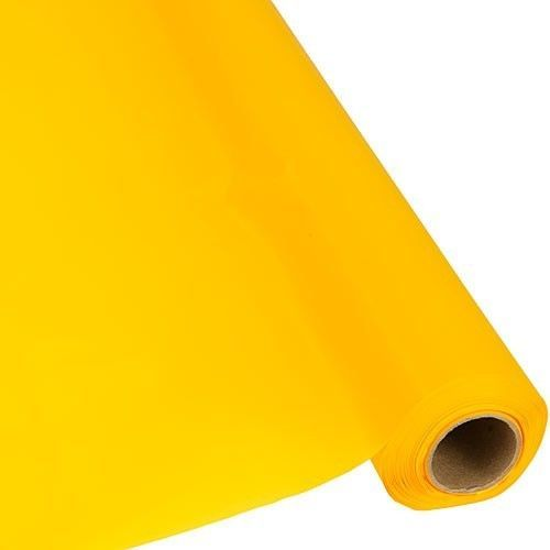 Details About Plastic Banquet Party Table Cover Roll 40 X 300 Feet Disposable Tablecloths Plastic Tables Plastic Table Covers Yellow Table