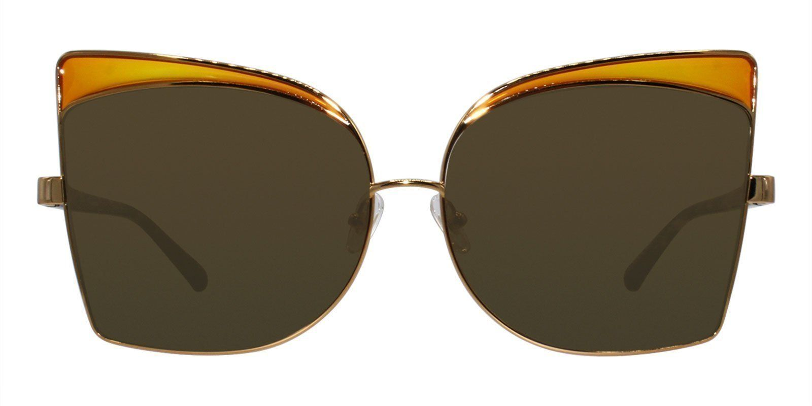 dc22cc4f21b Linda Farrow - N21 Gold - Brown sunglasses